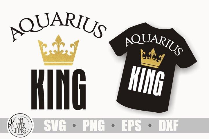 Aquarius king svg, Horoscope svg, Birthday svg, Zodiac sign