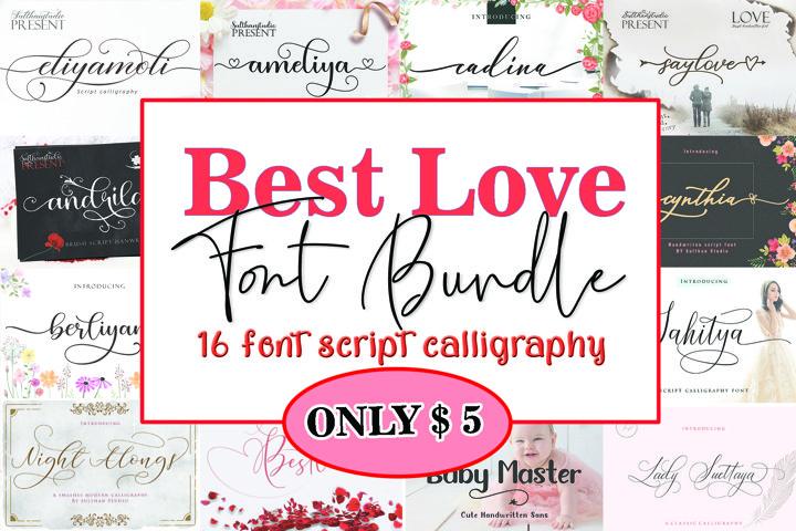Best Love Font Bundle