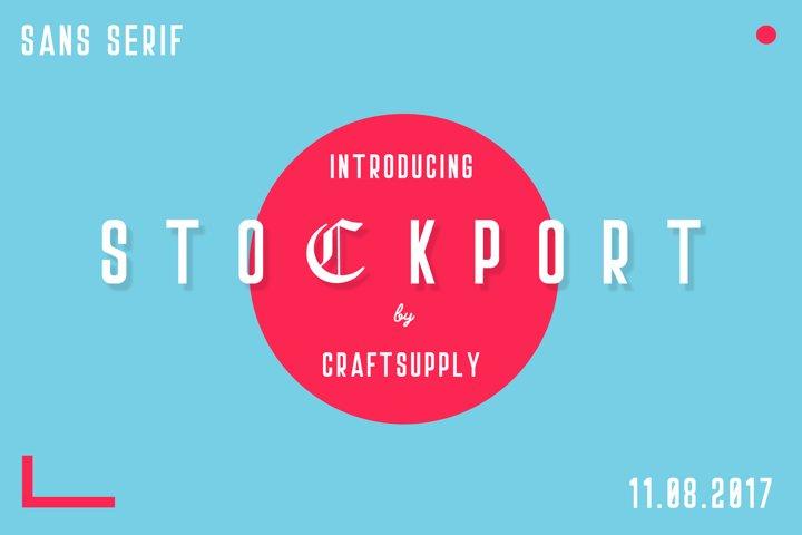 Stockport Font + Bonus Logo example 4