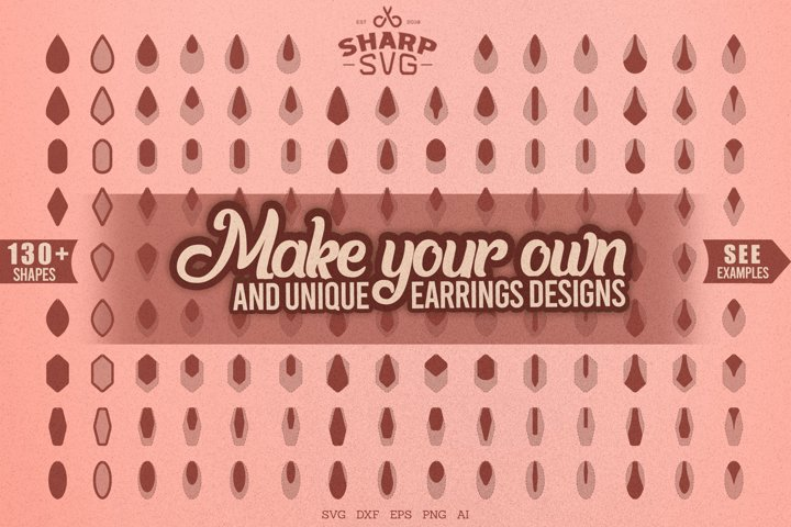 Make your own Earrings Designs SVG - Leather Earrings SVG