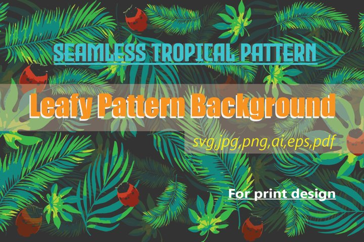 Seamless Tropical Pattern Background