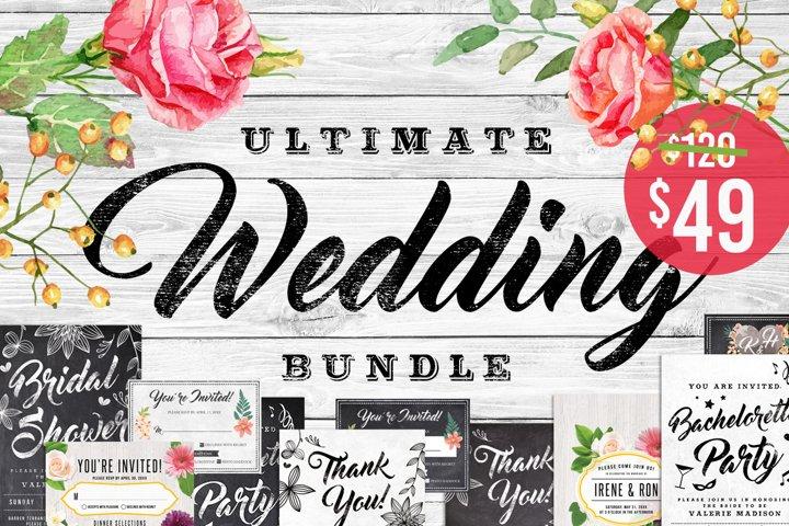 Massive Wedding Invite Bundle Flyer Save Date Bridal Shower