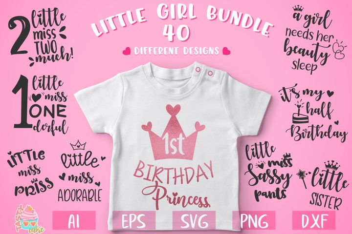 Little Girl Bundle - Little Girl Cut Files