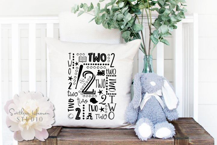 BOYS SECOND BIRTHDAY COLLAGE - SVG, PNG, DXF, EPS and AI