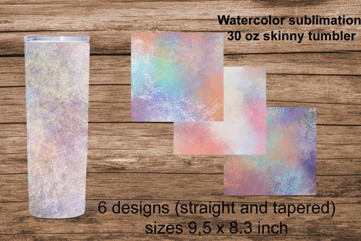 Watercolor sublimation for 30 oz tumbler