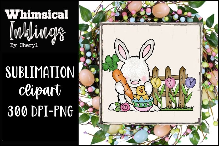 Tulip Bunny-Easter Sublimation Clipart example