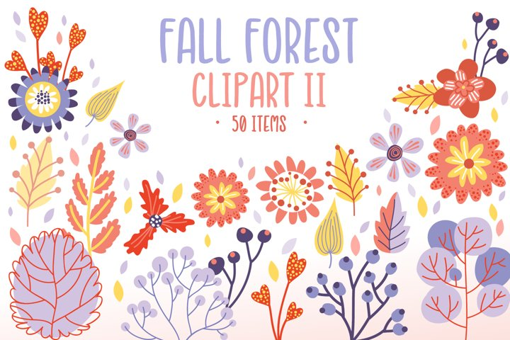 Fall Forest Bundle II - 50 sublimation & vector items