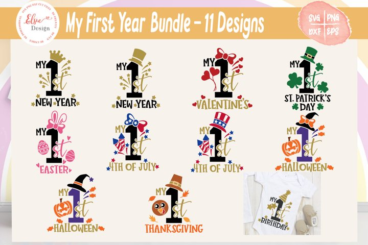 My First Year / 1st Fall Year Bundle SVG Cut Files