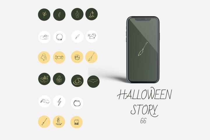 halloween Instagram story highlight icons