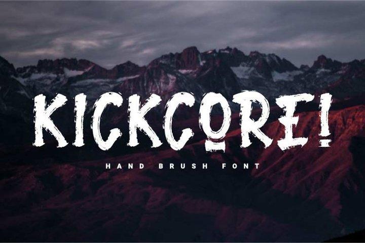 Kickcore - Hand Brush Font