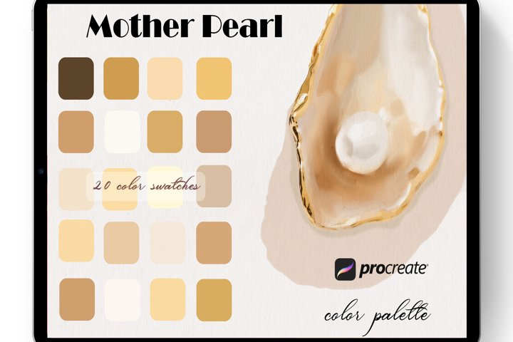 Mother Pearl Color Palette for Procreate