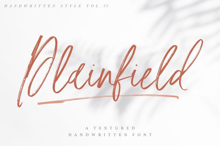 Plainfield - Handwritten Font