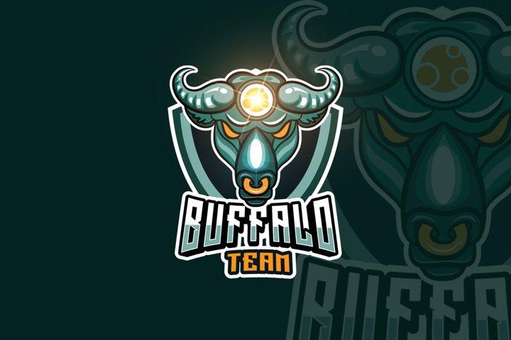 Buffalo Mascot & eSports Gaming Logo