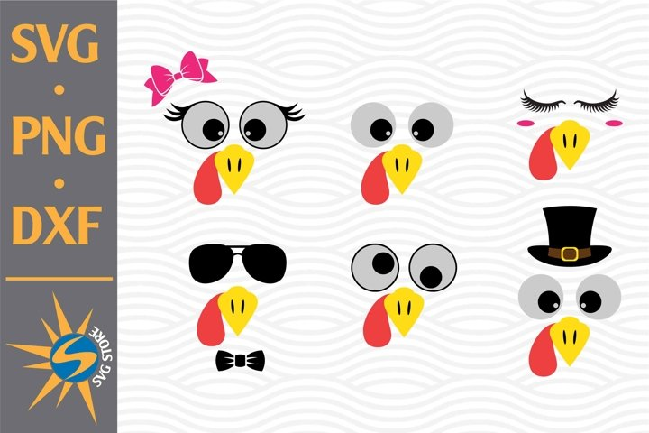 Turkey Face SVG, PNG, DXF Digital Files Include