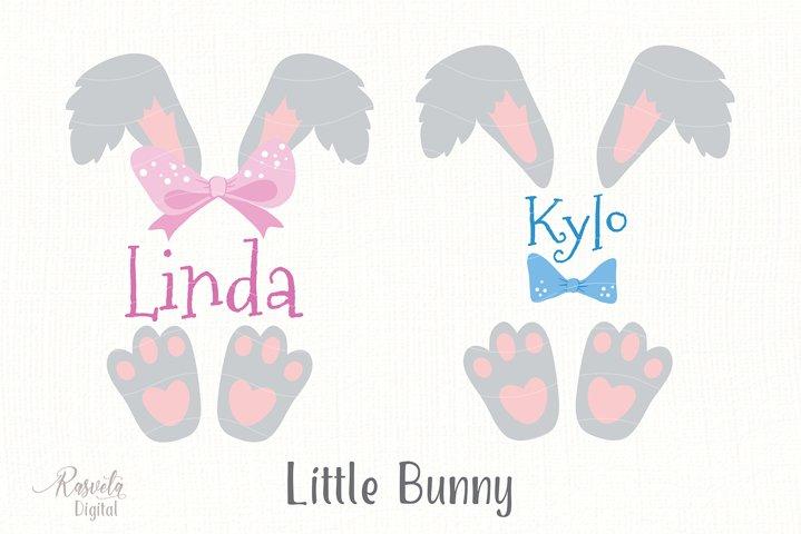 Cute Little Easter Bunny Clipart 2