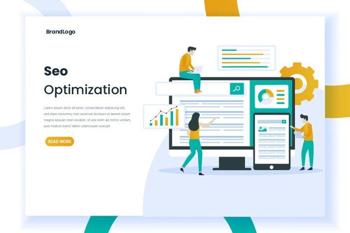 Seo web illustration concept