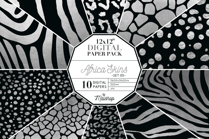 Digital Paper Pack - Africa Skins Set 05