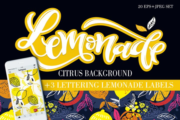 Lemonade citrus mega pattern set