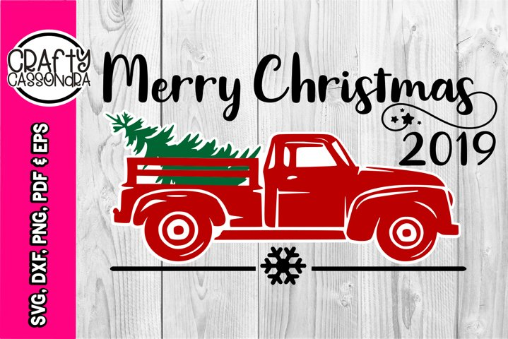 Christmas truck svg - Vintage pick up - Christmas pickup