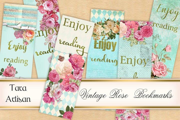 Bookmarks - Vintage Rose