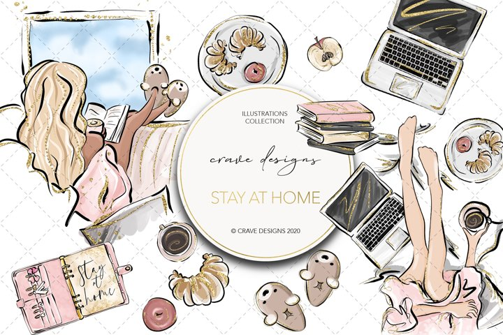 Stay At Home Clip Art
