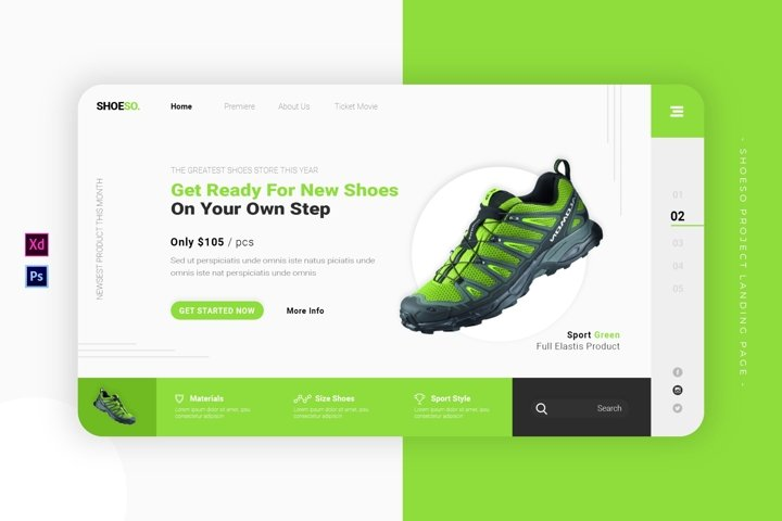 Shoeso Project   Landing Page