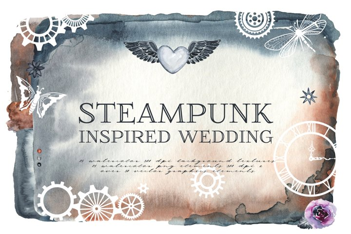 Steampunk Inspired Textures & Graphics