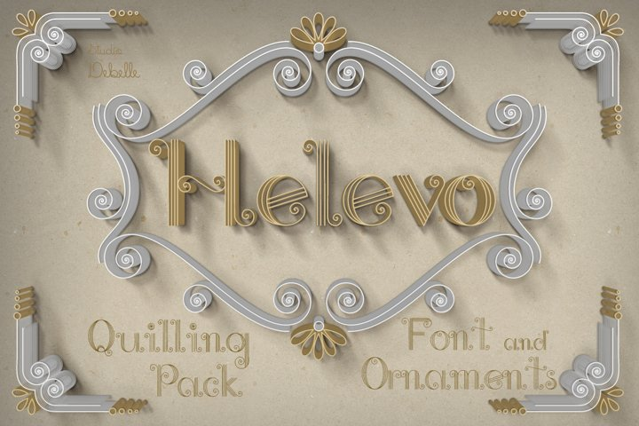 Helevo - Font and Ornaments - Quilling Pack
