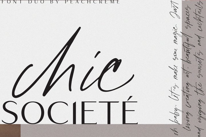 Chic Societe // Duo Font