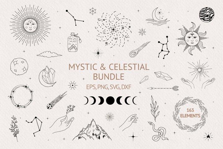 Hand drawn Mystic & Celestial Bundle