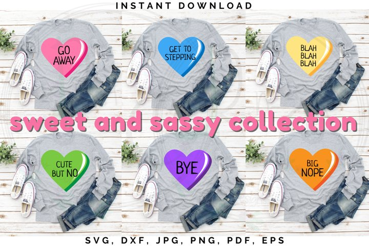 Sweet and Sassy bundle, Snarky Candy cut file, Valentines
