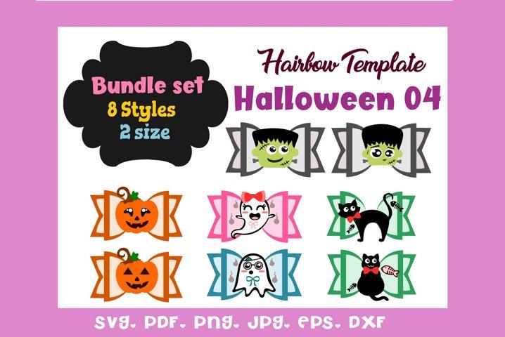 Halloween 04-Eight 8 Style,2 Sizes Hair Bow Template Bundle