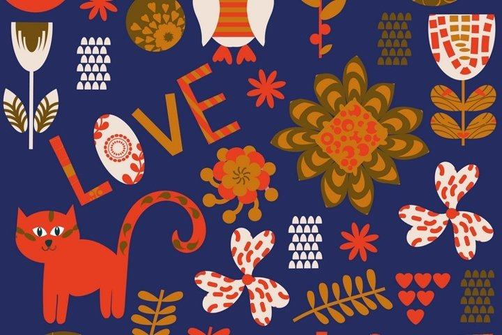 Animals seamless vector adorable pattern