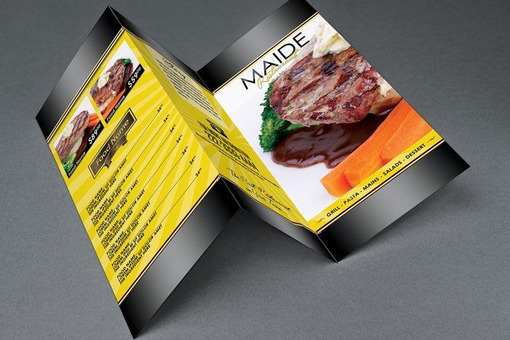 Restaurant Brochure Menu