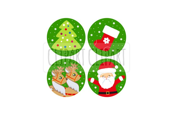 Santa Claus and deer. Xmas clipart png. Sublimation clipart