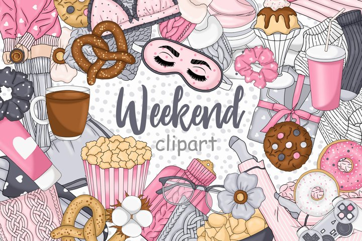 Weekend CLIPART For Icon Stickers Ladies Girls Lazy - PNG