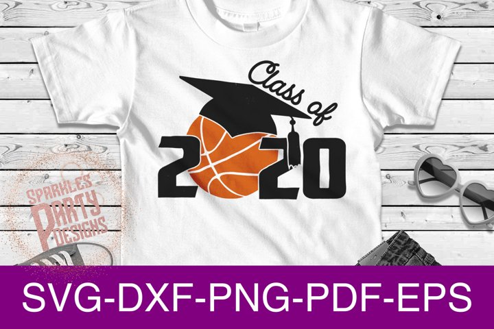 Class of 2020 Basketball Senior Sublimation SVG DXF PDF PNG