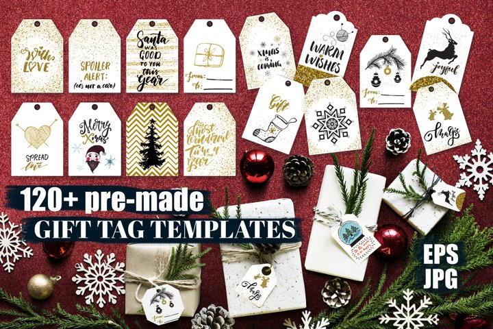 Christmas Gigt Tags Bundle EPS/JPG