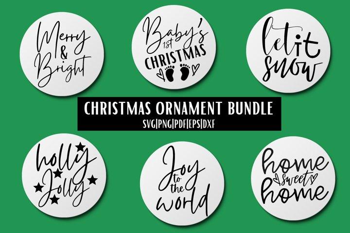 Christmas Ornament SVG Bundle - 6