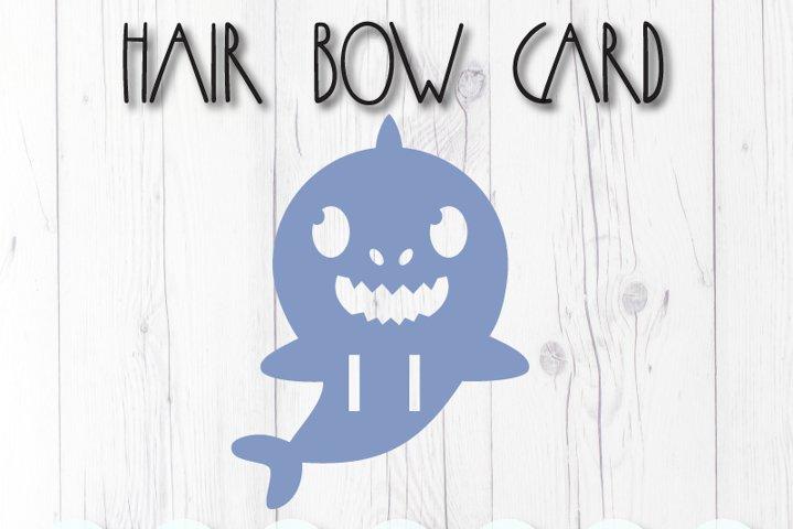 Shark display card for hair bow clip