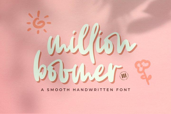 Million Boomer- A Smooth Handwritten Font