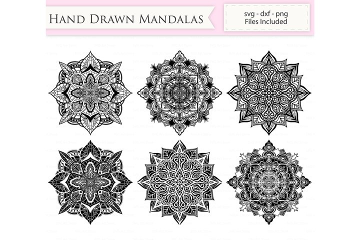 Hand Drawn Mandalas SVG Files - Mandala cut files