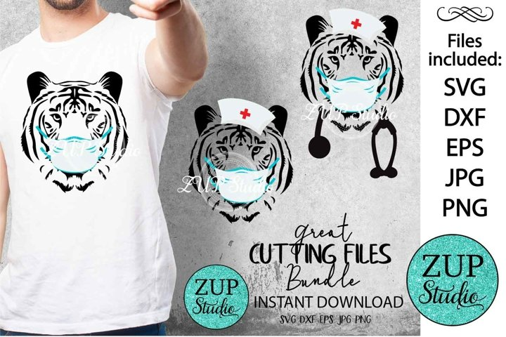 Tiger with Mask Digital Cutting files 524