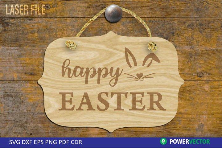 Easter Door Sign Laser File|Farmhouse Sign SVG