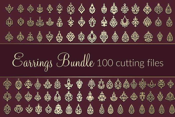 100 SVG Earrings Bundle VOL.2 Dxf Eps Cricut cutting file
