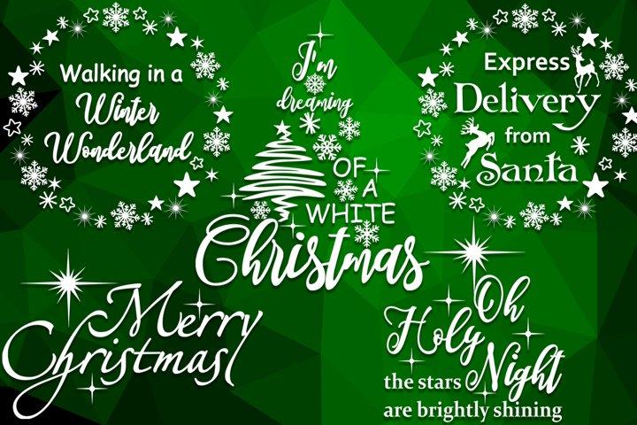 Christmas svg bundle Merry christmas svg Winter wonderland
