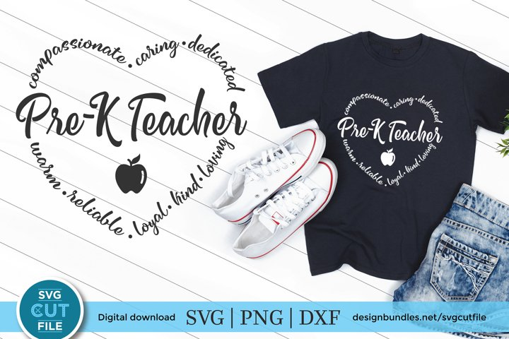 Pre-K Teacher svg, a preK teacher svg for crafters