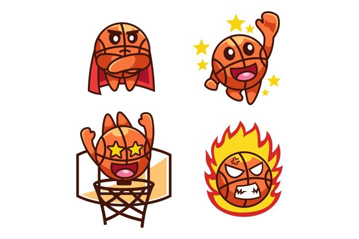 cartoon sport Basketball character collection