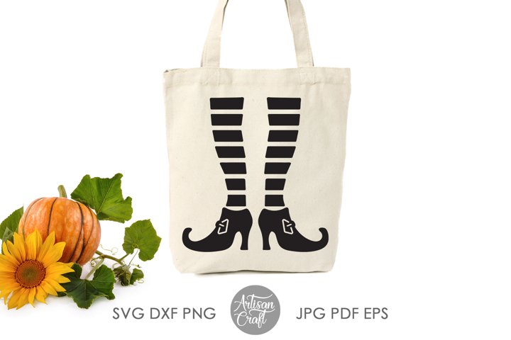 Witch legs SVG ,Halloween SVG, cut file ,witches shoes example 2