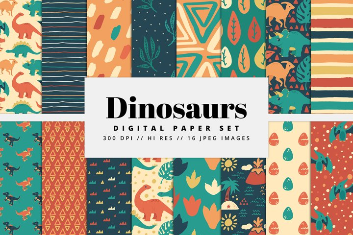 Dinosaur Digital Paper Set